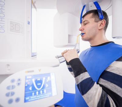 Сделать панорамный снимок - ортопантомограмму